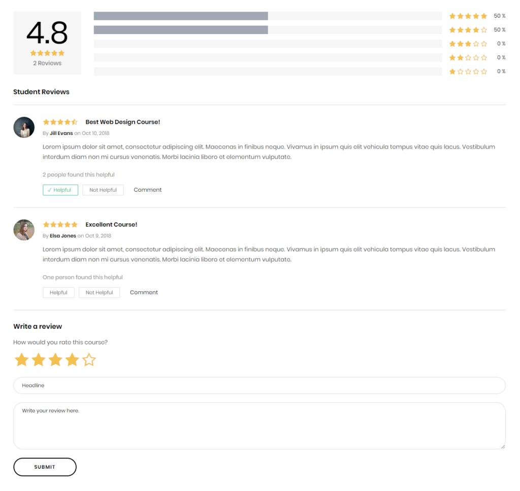 LearnDash Course Reviews